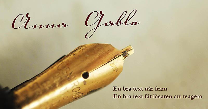 Anna Gable - En bra text når fram - En bra text får läsaren att reagera